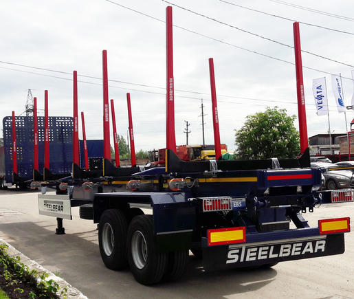 Бесплатно доставим полуприцеп-сортиментовоз Steelbear в любой город России!